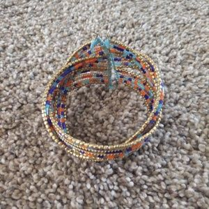CostPlus World Market Multi- Colored Cuff Bracelet